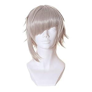 Cfalaicos 16'' Layered Light Grey Cosplay Wig for Bungo Stray Dogs Nakajima Atsushi