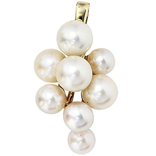JOBO pendentif en or jaune 585 8 perles