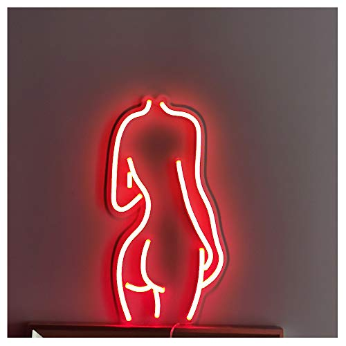 Red Sexy Lady Back LED Neon Sign Lights Art Wall Decorative Lights (Lady-Red)