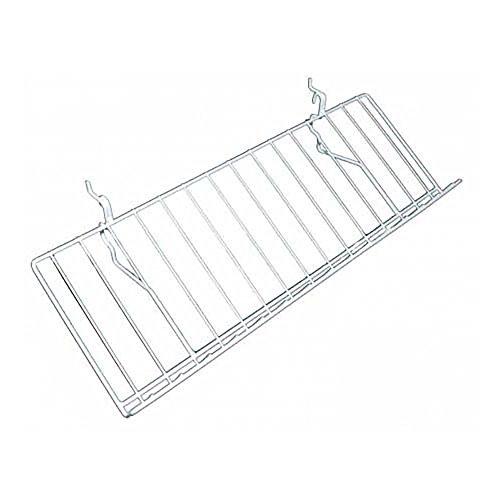 Slatgrid White Metal Angled Shelf With Lip 23