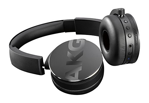 AKG  Y50BTBLK Portable Foldable On-Ear Rechargeable Bluetooth Headphones - Black