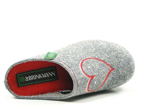 Brinkmann Grau slippers women's gray Dr 330149 FnPzxq