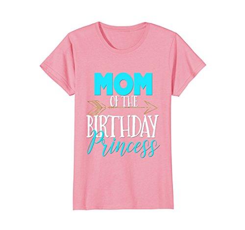 Womens Mom of Birthday Princess Shirt Matching Family Tribe Medium Pink (Pink Womens T-shirt Princess)