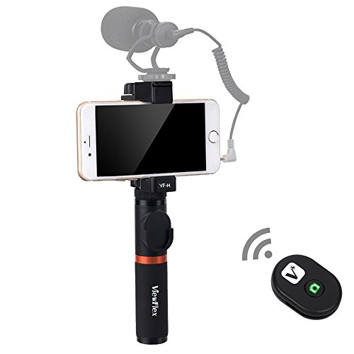Viewflex Smartphone Video Grip VF-H3 Full Metal Bluetooth Remote Control Handle grip With Tripod mount Adapter for IPhone X 8Plus 7 6s Samsung Galaxy S8+ S8 Note 3 Huawei (Bluetooth Handle Grip) by Viewflex