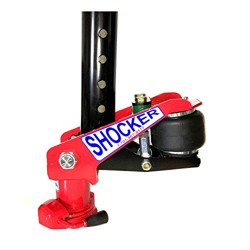 Shocker Gooseneck Surge Air Hitch for Exiss Horse Trailers - Fits a 4 Inch Round Stem - 2-5/16 Inch Gooseneck Hitch Ball - 24,000 lbs