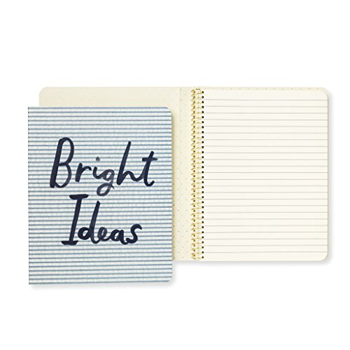 Kate Spade New York Women's Concealed Spiral Notebook, Bright Ideas, Blue from Kate Spade New York