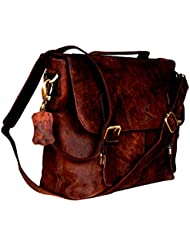 Cuero Handmade Leather Messenger Bag Vintage Style Genuine Leather Satchel Shoulder Business Office Smart Casual...