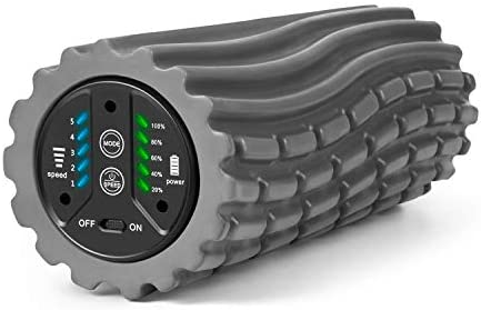 Wolverine Relief-Vibrating Foam Roller 5-Speed Hands Free Massager and Roller for Muscle Recovery and Deep Tissue Massage Therapy
