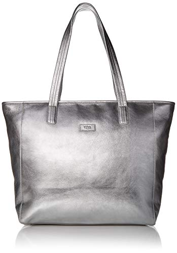 UGG Alina E/W Tote Leather, Metallic Silver