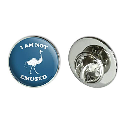 GRAPHICS & MORE I Am Not Emused Emu Amused Funny Humor Metal 0.75