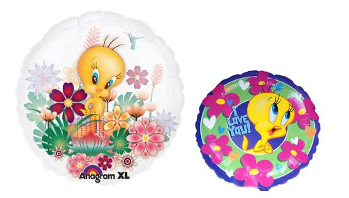 2 Tweety Bird Balloons - Warner Brothers Tweety Party Balloon Bundle (Tweety Bird Party Supplies compare prices)