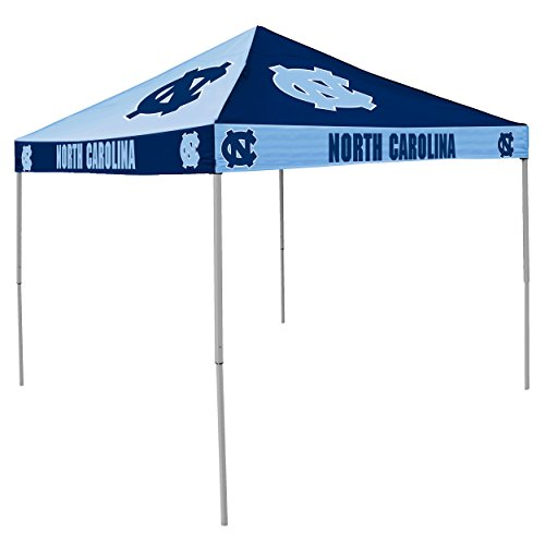 NCAA North Carolina Tar Heels 9-Foot x 9-Foot Pinwheel Tailgating Canopy, Dark Blue/Light Blue