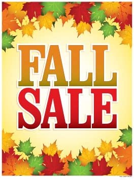 Amazon Com P70fll Fall Sale Leaf Design Holiday Seasonal Vinyl Window Sale Sign Posters Retail Business Store Signs P70 38 X 50 Office Products
