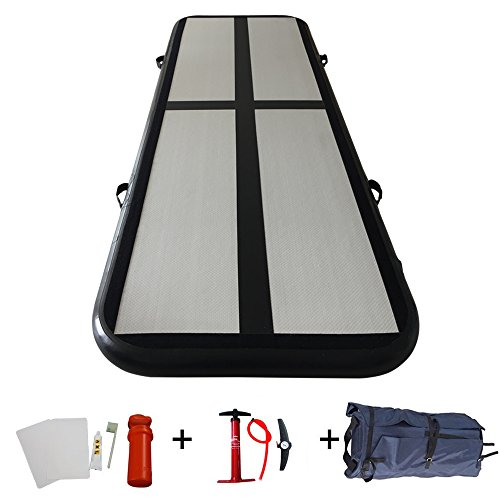ibigbean Gymnastics Tumbling Mat Air Floor for Home Use, Beach, Park and Water