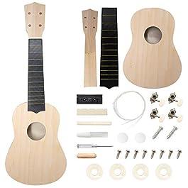 DIY Ukulele Kit Soprano (22inch) Build Your Own Ukulele Kit With Custom Ukulele Design For Kids & Beginners (33 Pieces…