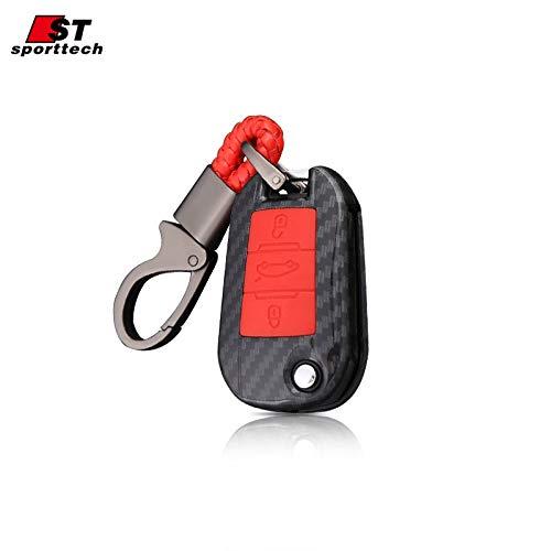 Amazon.com: Key Case Car Keychain For Peugeot 5008 4008 3008 ...