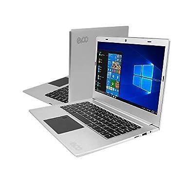 EVOO EV-C-125-3-SL 12.5 HD Ultra Slim Laptop, Intel Celeron Quad Core CPU, 3GB RAM, 32GB Storage, Fingerprint Scanner, Silver