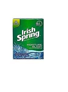 Irish Spring Deodorant Soap, Moisture Blast,  3.75-Ounce Bars  (Pack of 6)