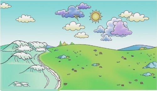 Beginners Bible Meadow/Sky Flannelboard Unmounted (14