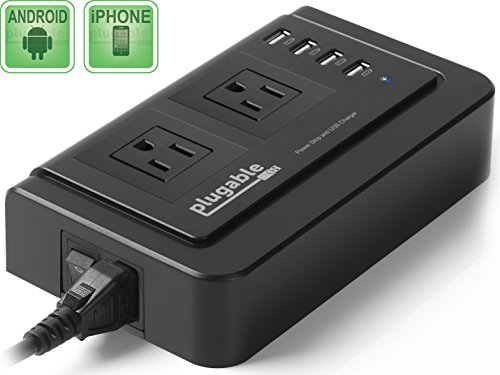 Plugable 2 Outlet Universal Charger Compatible