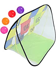 NUOBESTY 1 Set of Football Toss Game Football Throwing Net for Kids Mini Soccer Aiming Cornhole Football Shooting Game Toys
