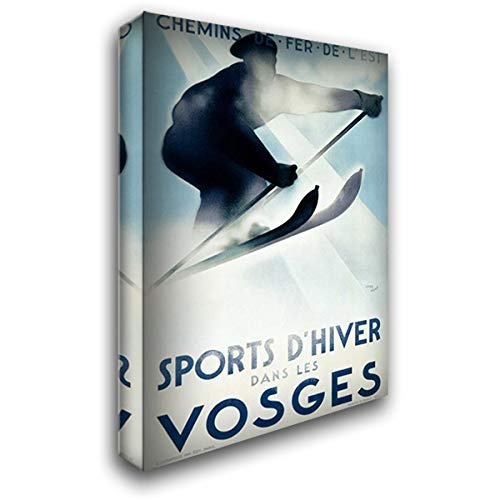 Vosges/Sports d'Hiver 35x54 Extra Large Gallery Wrapped Stretched Canvas Art by Theodoro