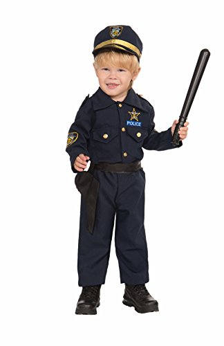 [Forum Novelties Baby Boy's Police Boy Toddler Costume, Navy, 2-4 Toddler] (Cool Costumes For Boys)