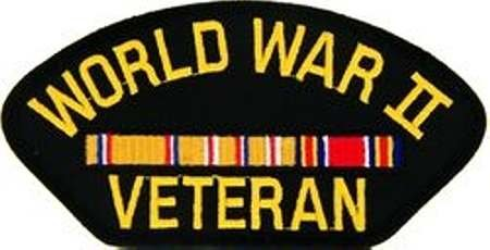 WORLD WAR II VETERAN ASIATIC/PACIFIC THEATER W/ CAMPAIGN RIBBON BLACK PATCH(Can be sewn or ironed on jacket or hat) Patch 3