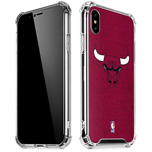- Skinit Chicago Bulls Red Distressed iPhone Xs Max Clear Case - Officially Licensed NBA Phone Case Clear - Transparent iPhone Xs Max Cover