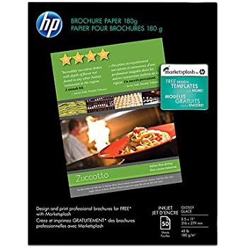 amazon com hp brochure paper glossy 8 5x11 150 sheets glossy