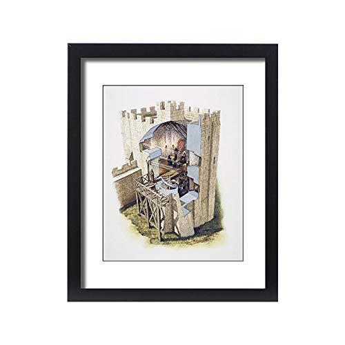 Media Storehouse Framed 20x16 Print of Peveril Castle J980136 ()