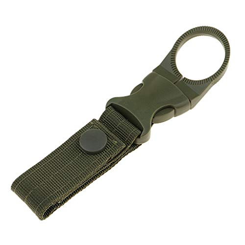 NATFUR Tactical Molle Backpack Keychain Strap Nylon Webbing Belt Buckle Hook Gear Elegant Key-Chain Cute for Men Perfect Elegant Novelty Beautiful | Color - Green