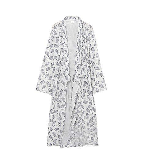 FANCY PUMPKIN Men's Yukata Robes Kimono Robe Khan Steamed Clothing Pajamas #08 ()