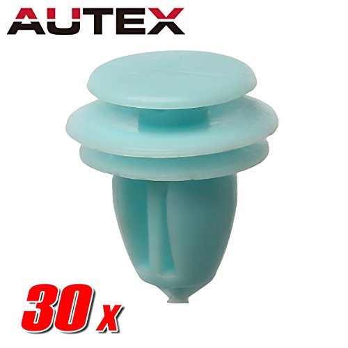 (AUTEX 30pcs Door Trim Panel Lining Fastener Rivet Push Clips Retainer Nut Replacement for Honda Accord Crosstour Civic CR-V Element Odyssey Pilot Ridgeline Replacement for Acura ILX Hybrid RDX RL)