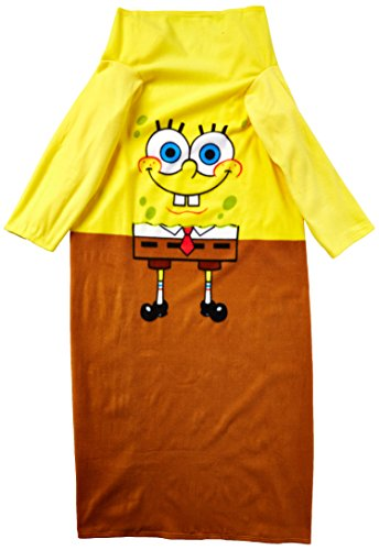 Nickelodeon Spongebob Squarepants, Being Bob Adult Comfy Throw Blanket with Sleeves, 48