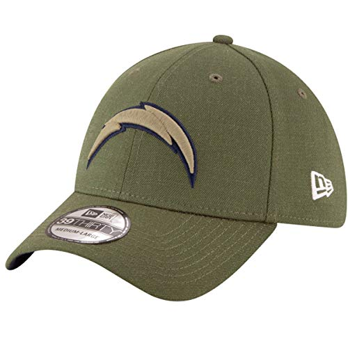 New Era Mens NFL 2018 Salute to Service 39Thirty Flex Fit Hat (Medium/Large, Los Angeles Chargers)