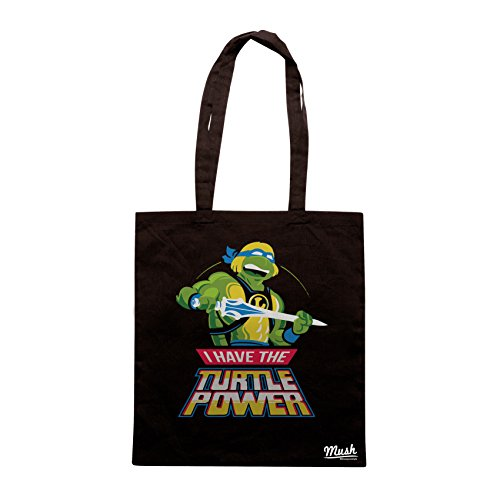Borsa TARTARUGHE NINJIA & MASTER OF UNIVERSE - Nera - FILM by Mush Dress Your Style
