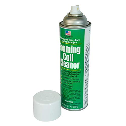 QwikProducts Coil Cleaner for Heating Units, Refrigerator, and Air Conditioners No Rinse Coil Cleaner Spray Breaks Down Dirt, Dust, Grease, and Oil