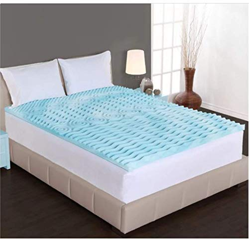 Dream Form 2-inch Orthopedic 5-Zone Gel Foam Mattress Topper Size Queen ()