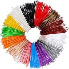 3D pen filament refills 16 vibrant colors, 20 feet each total 400 feet. 1.75mm PLA 3d printing pen filament refills. Eco-friendly, non-toxic and safe for kids