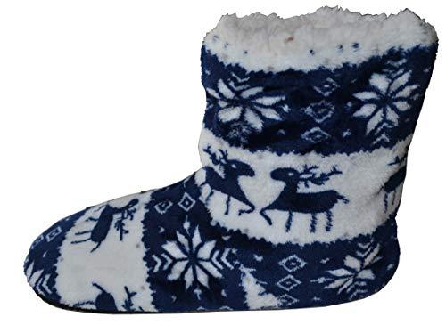 Fkl Neige Chaussures L'automne 2 Chaussures Bonhomme De Chauds Dunkelblau Cerfs Chaudes Pour Noël Chaussons Noël Réchauffe La Les Sapin vrOwqAav