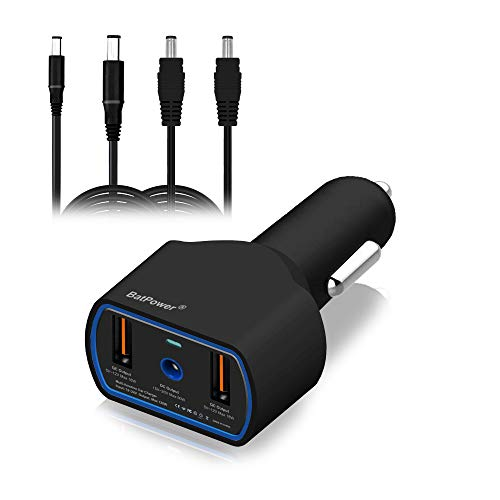 BatPower CCD2 UL Listed 120W 90W Laptop Car Charger Power Supply Adapter for Dell Inspiron Latitude XPS Mini Precision Studio Vostro Notebook USB QC3.0 Fast Charging Tablet and Smartphone