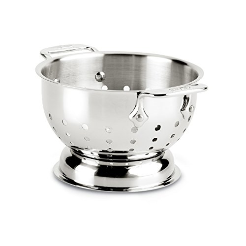 All-Clad 56015 Stainless Steel Dishwasher Safe Colander Kitchen Accessorie, 1.5-Quart, - Colander Quart 1.5