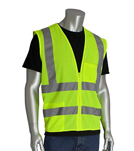 Worktex Safety Standard Class 2 Mesh Safety Vest, Yellow/Lime, Size XL, 10 per Pack ()