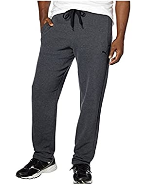MEN'S FLEECE SWEATPANTS WITH DRAWSTRING AND POCKETS (Small, Dark Heather Gray)