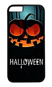 MOKSHOP Adorable Halloween Pumpkin 1 Hard Case Protective Shell Cell Phone Cover For Apple Iphone 6 Plus (5.5 Inch) - PC Black