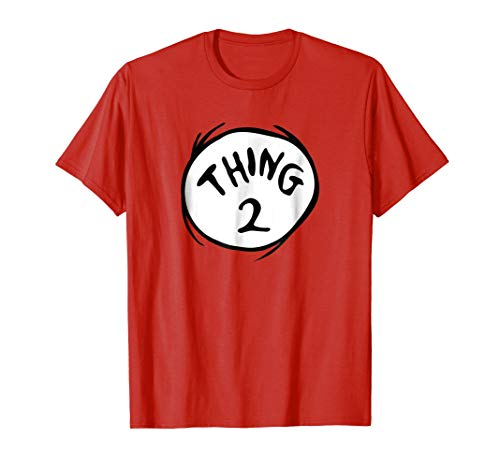 Dr. Seuss Thing 2 Emblem RED T-shirt (Thing One And Thing Two Baby Shirts)