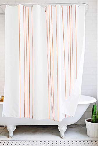 red and white shower curtain - 9
