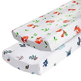 Changing Pad Covers or Cradle Sheets for Baby Boys Girls, 2-Pack
