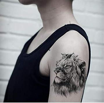 yyyDL Etiqueta engomada del tatuaje León Etiqueta engomada del ...